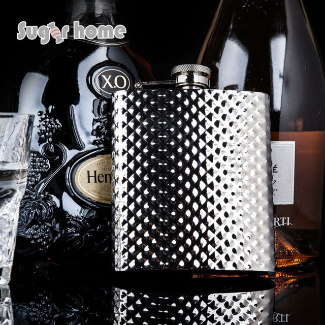 Mealivos Diamonds shine 8 oz Stainless Steel Hip Flask Alcohol Liquor Whiskey vodka Bottle gifts wine pot drinkware jagermeister