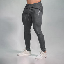 Sportswear Trousers Gym-Pants Fitness Bodybuilding Gray Solid Men Quick-Dry
