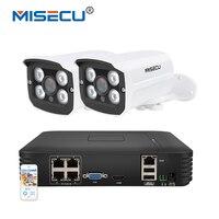 MISECU 1080P 2 0MP PoE NVR System 4CH 1TB 2pcs 1 3MP 960P 13V Camera Metal