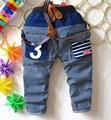 2016 осень пункт мальчик прохладно джинсы брюки джинсовые брюки 1-4 лет два цвета