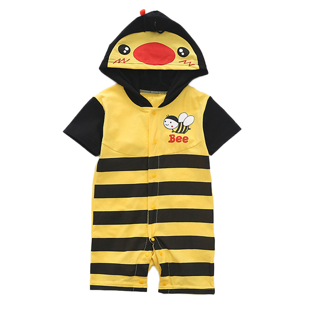 2018 New Cute Toddle Baby Romper Girls and Boys Animal Jumpsuit Outfits Summer Clothes Drop Shipping