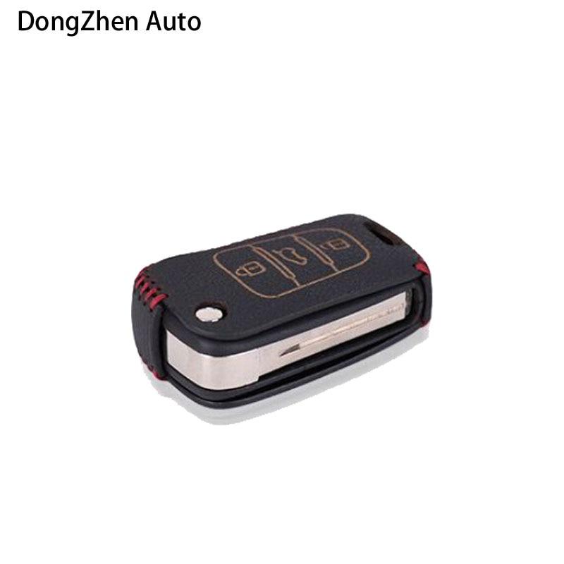Dongzhen Cubiertas con llave de 3 botones para automóvil Funda - Accesorios de interior de coche
