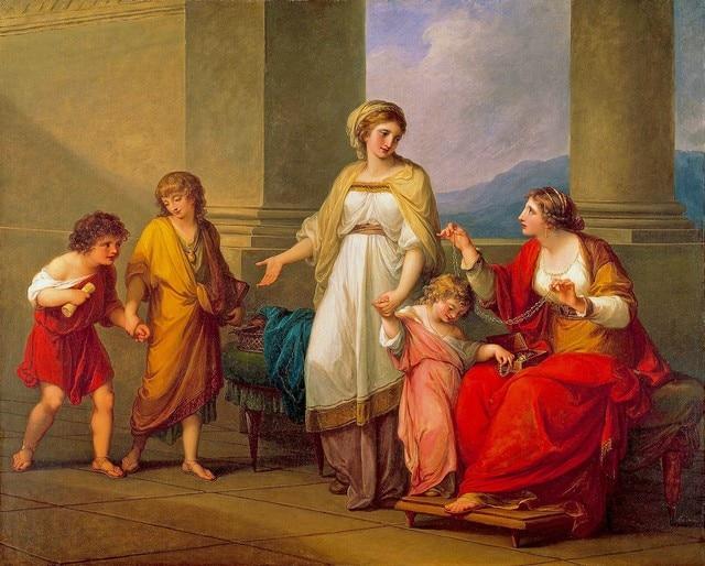 Impresiones de la Lona sin marco Cornelia, madre De La Gracchi Por ...