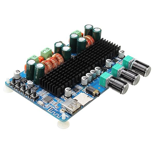 LEORY Wireless Bluetooth Digital 2.1 Channel Amplifier Board 50W+50W Stereo Output 100W Bass USB Amplifier For MP3/WMA/WAV