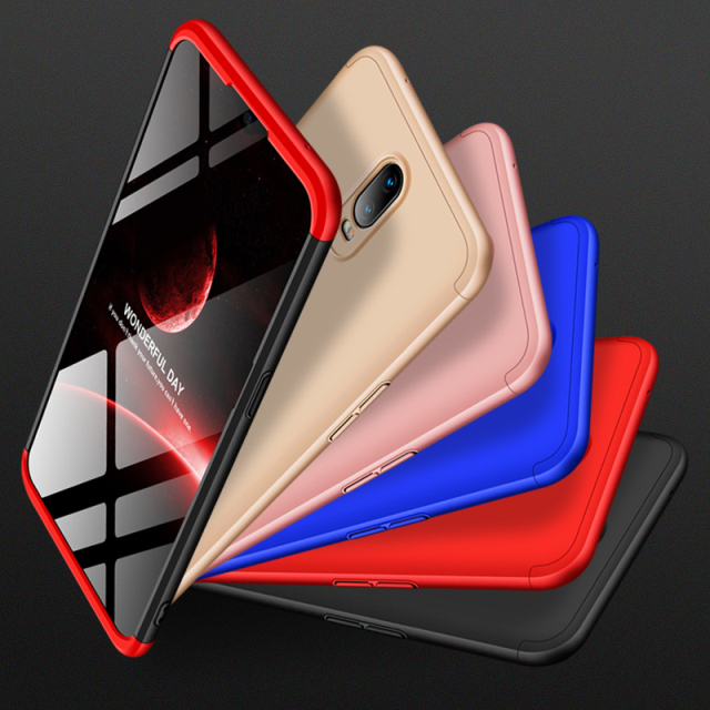 3 In 1 Case For OPPO A59 A57 A79 A83 A3 A3S A5 360 Full Protective Hard PC Back Cover For OPPO R17 Find X Coque Phone Shell