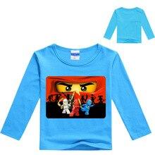 3-12Years 2019 Boys T Shirt Legoes T-shirt Baby Ninjago Boy Tshirt L Sleeves Children Summer Clothes Toddler Boy Shirts стоимость