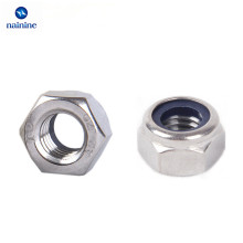 50Pcs DIN985 M3 M4 M5 M6 M8 304 Stainless Steel Nylon Self-locking Hex Nuts Locknut Slip Lock Nut HW020