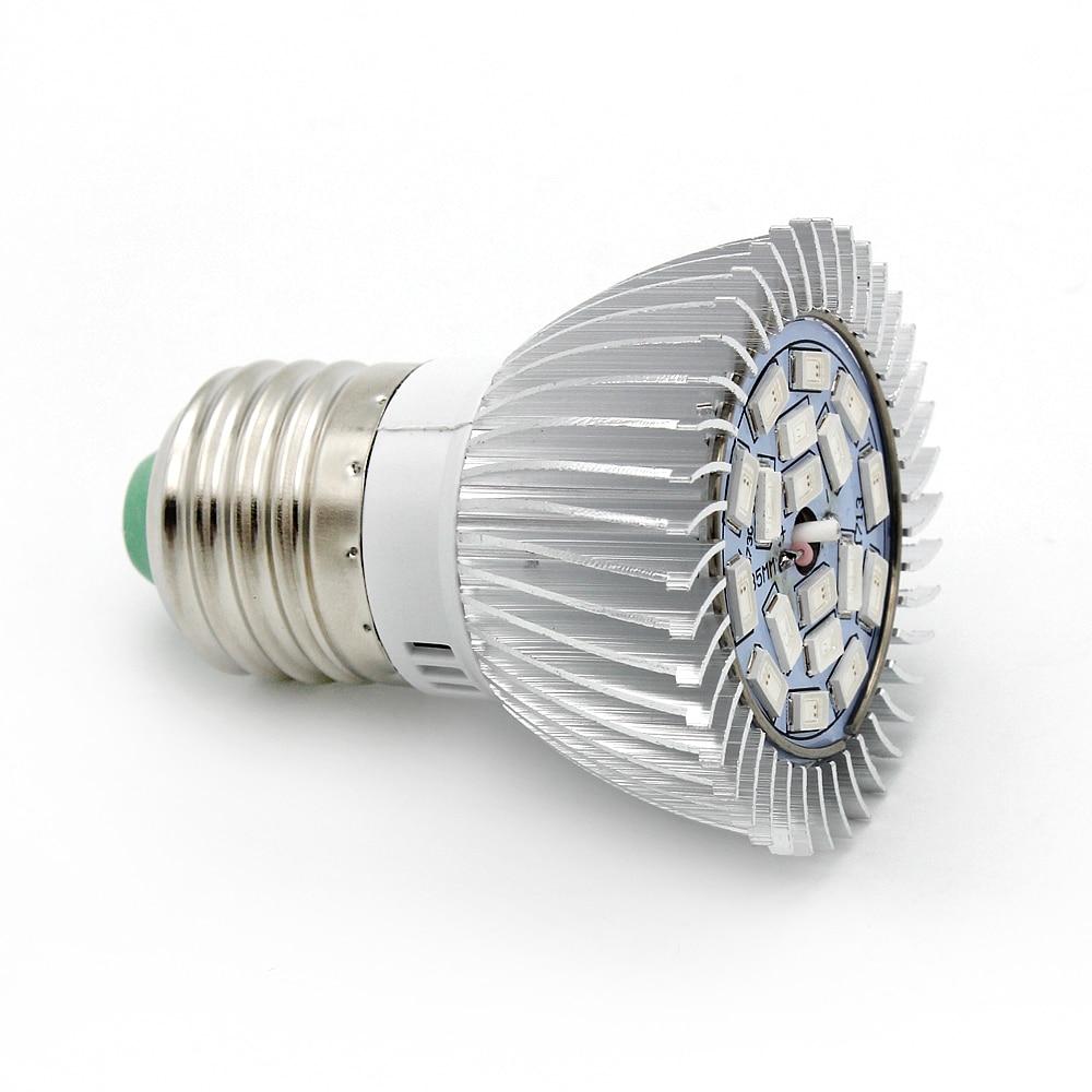 18W E27 5730 Full Spectrum LED Grow Lights 18 Leds 12Red+6Blue Lamp For Flower Plant Hydroponics Light AC 85-265V