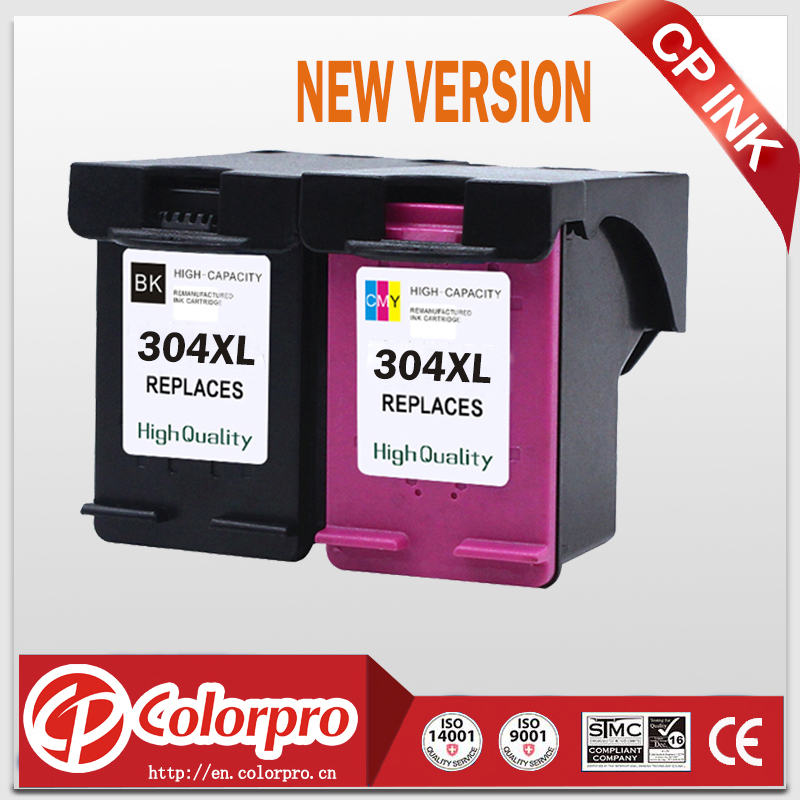 CP <font><b>304</b></font> Replacement for HP304 304XL New Version Ink Cartridge for Deskjet 2630 3720 2620 2632, <font><b>HP</b></font> Envy 5000 printer (1BK/1C) image