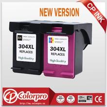 Cp 304 교체 용 hp304 304xl 새 버전 잉크 카트리지 deskjet 2630 3720 2620 2632, hp envy 5000 프린터 (1bk/1c)