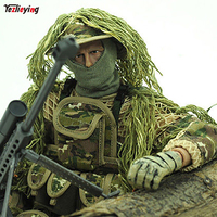 1/6 Scale Military action figures doll Super flexible 12 Inch doll Jungle Sniper Soldier ABS Model Toys Full joint movable