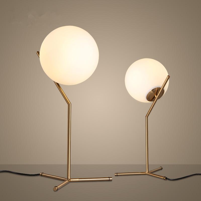 Lampe De Chevet Boule En Verre Lampe Avec Pied En Pierre