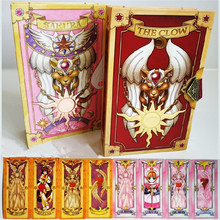 Anime Props Card Captor Sakura Colorful Card Clear patterns Full set 56 or 60 cards Cosplay yellow and pink Magic Cards for gift lenticular card and pvc clear cards plastic clear cards supply