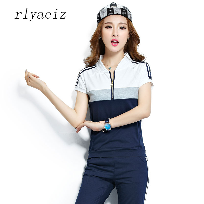 Rlyaeiz Oversized 6XL Fashion 2 Piece Set Women Striped Hoodies + Calf-length Pants 2018 Summer Casual Loose Women Tracksuit