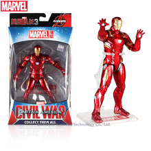 Hasbro Marvel Toys The Avenger Endgame 17CM Super Hero Thor Iron Man Wolverine Spider Man Iron Man Action Figure Toy Dolls цена