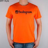 Instagram App Apple Diy Style T Shirt Cotton Lycra Top Fashion Brand T Shirt Men New
