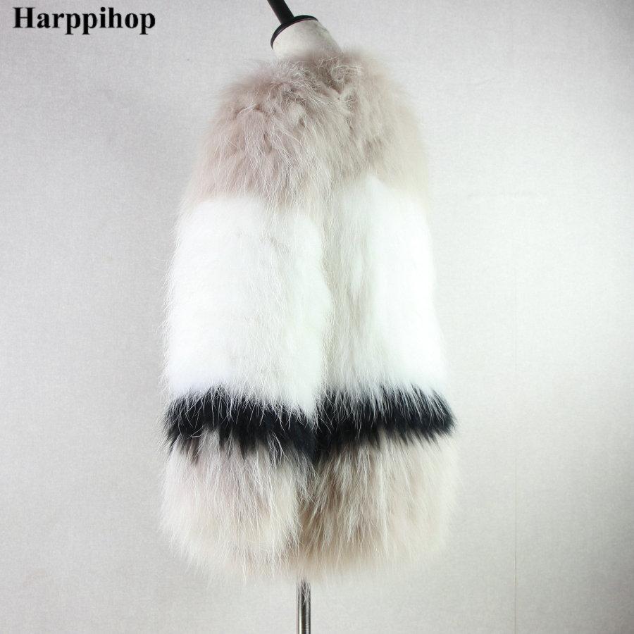 Fourrure Chaud Renard Hiver Harppihop Tricoté Veste Femmes De Manteau Réel Tricot Véritable Ourwear 100 Russe qFaFw70