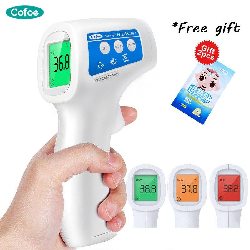 Cofoe Testa Febre Temperatura Do Corpo Do Bebê Termômetro LCD Digital Sem Contato Infravermelho IR Arma Ferramenta De Medição para o Bebê Saúde do Adulto cuidados