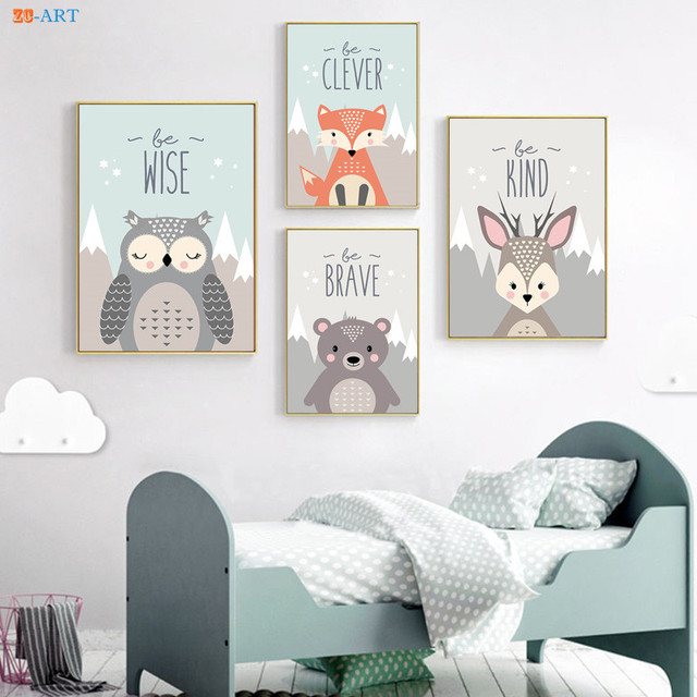 Aliexpress.com : Buy Woodland Nursery Prints Wall Art Woodland ...