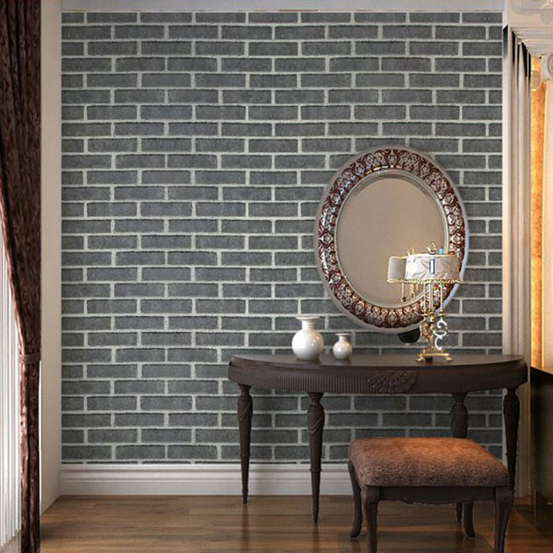 PVC Wallpaper 3D Imitation Brick Stone Red Grey White Wall Papers For Walls Living Room Study Vintage Backdrop Wall Decor Tapety 2 sheet pcs 3d door stickers brick wallpaper wall sticker mural poster pvc waterproof decals living room bedroom home decor