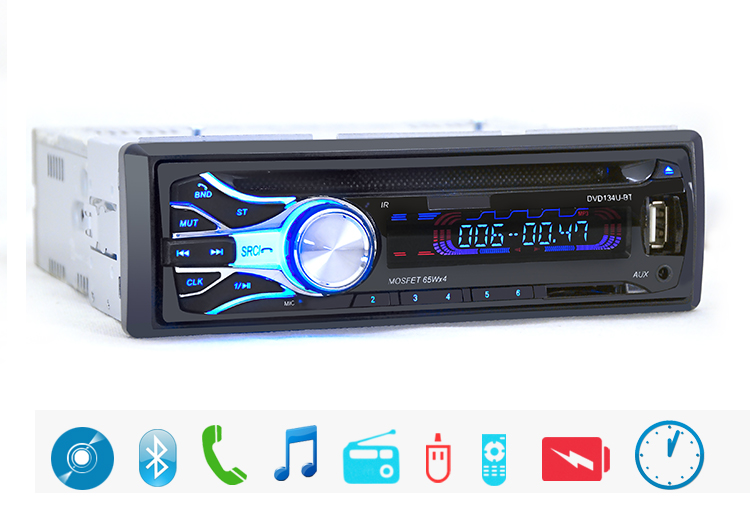 Registered 12V Bluetooth V3 0 Car Stereo font b Audio b font In dash Single Din