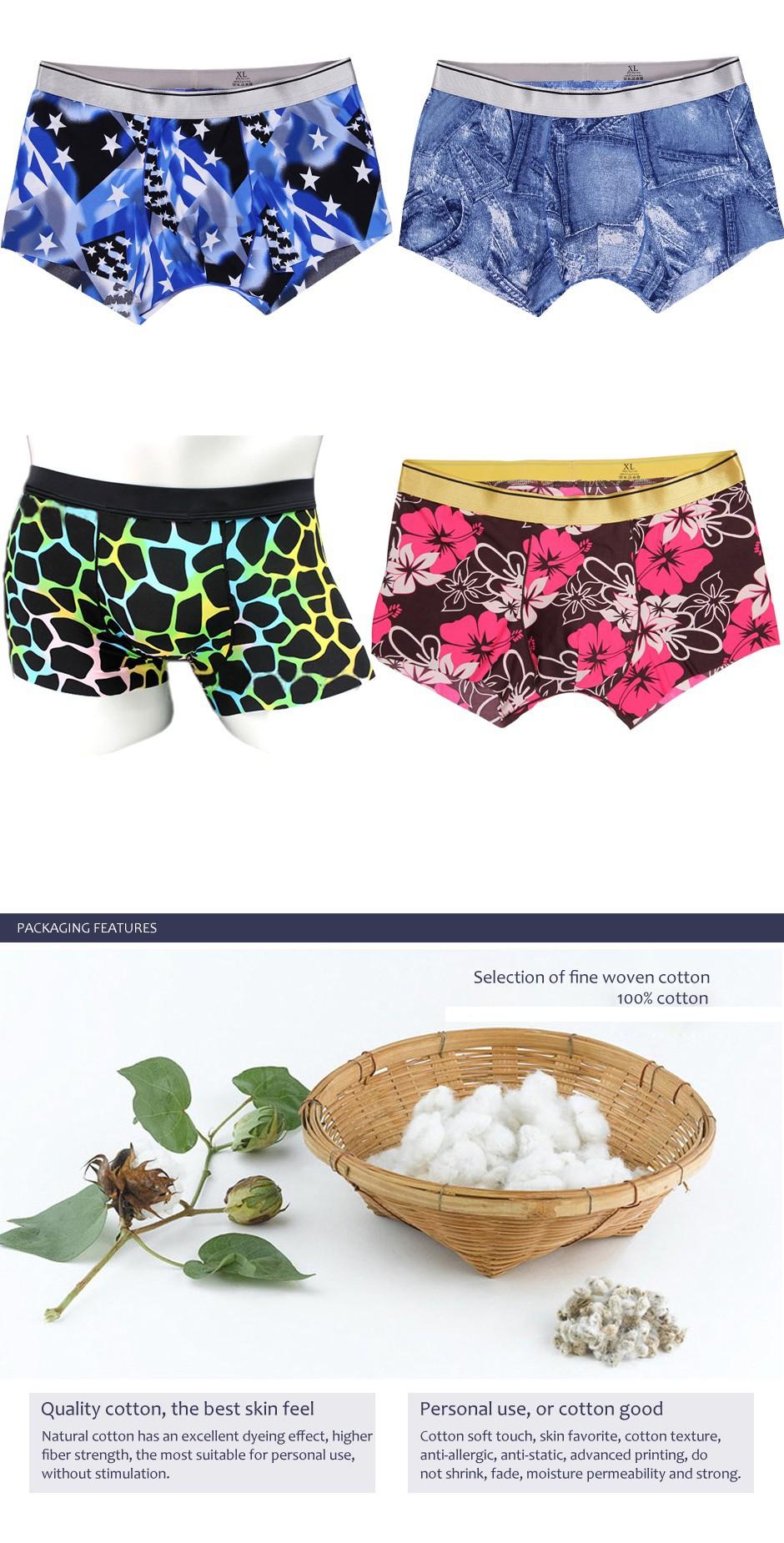 b74a67db068 BXMAN 100% Cotton Knit High Quality Sexy Men Boxer Shorts Men  s Underwear  Classic Underpants One Button 5 Colors 5Pieces LotUSD 22.99 lot
