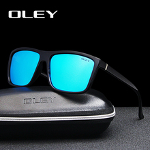 OLEY Brand Polarized Sunglasses Men UV400 Classic Male Square Glasses Vintage Style Driving Travel Eyewear Unisex Gafas Oculos