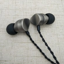 POYATU HiFi Stereo Earphone Hi Res Audio Earbuds Triple Balanced ie80 Tune DJ font b Metal