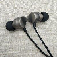 POYATU HiFi Stereo Earphone Hi Res Audio Earbuds Triple Balanced Ie80 Tune DJ Metal Headset For