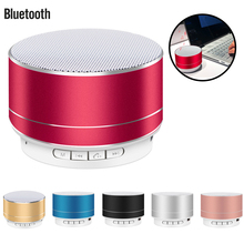 Portable Bluetooth Speaker 360 Degree Stereo Surround Sound Metal Sense Wireless Bluetooth Speaker With Colorful LED Light все цены