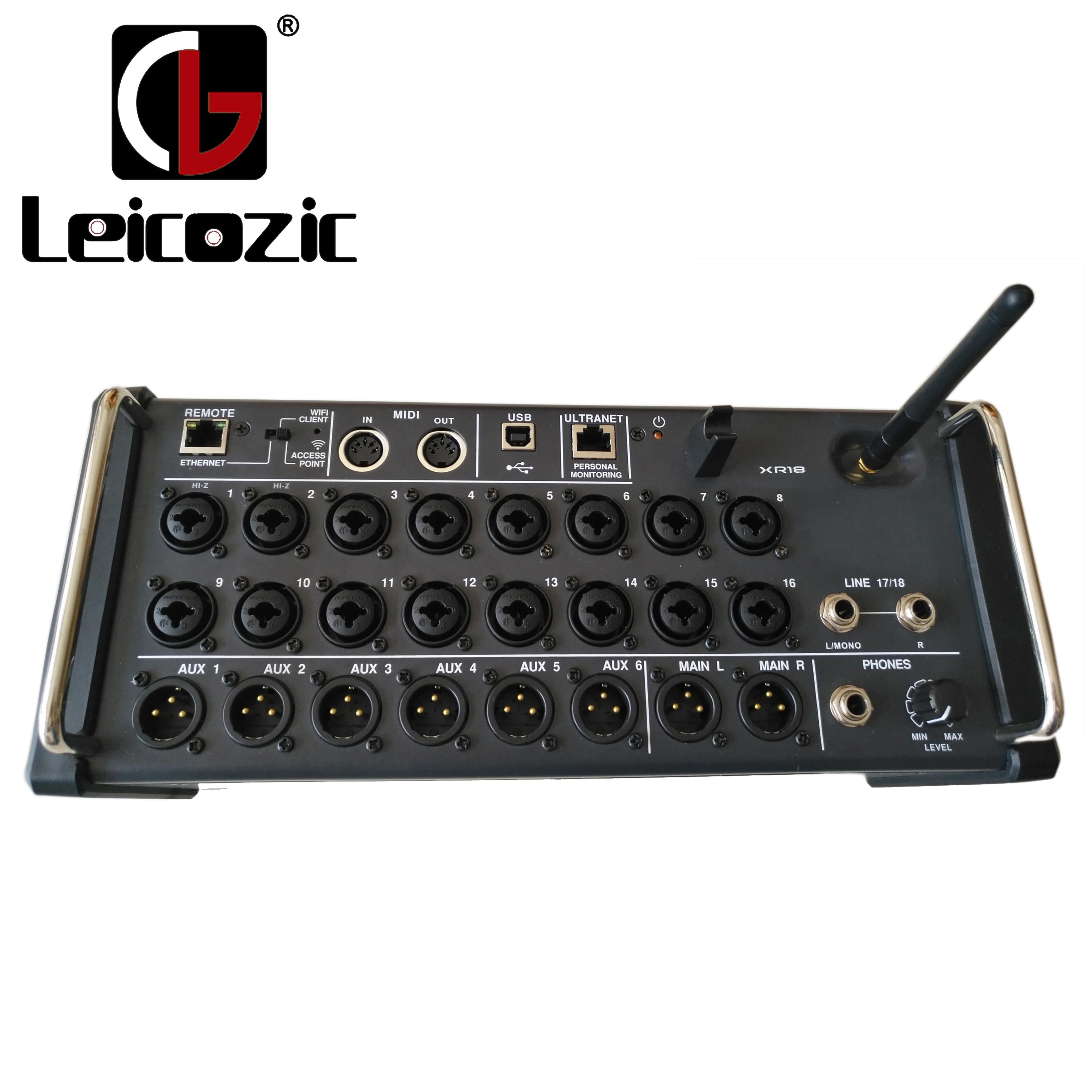 Leicozic X aire XR18 18-Ch 12-Autobús mezclador Digital para iPad/Android Tablet construido en Wi-Fi/USB adecuado para escenario/sonido vivo/estudio