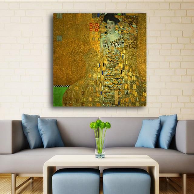 Hot Sale Adele Bloch Bauer By Gustav Klimt Canvas Art Print ...