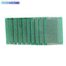 10 шт. двухсторонний Прототип PCB хлеб доска Луженая универсальная 4x6 см 40x60 мм FR4