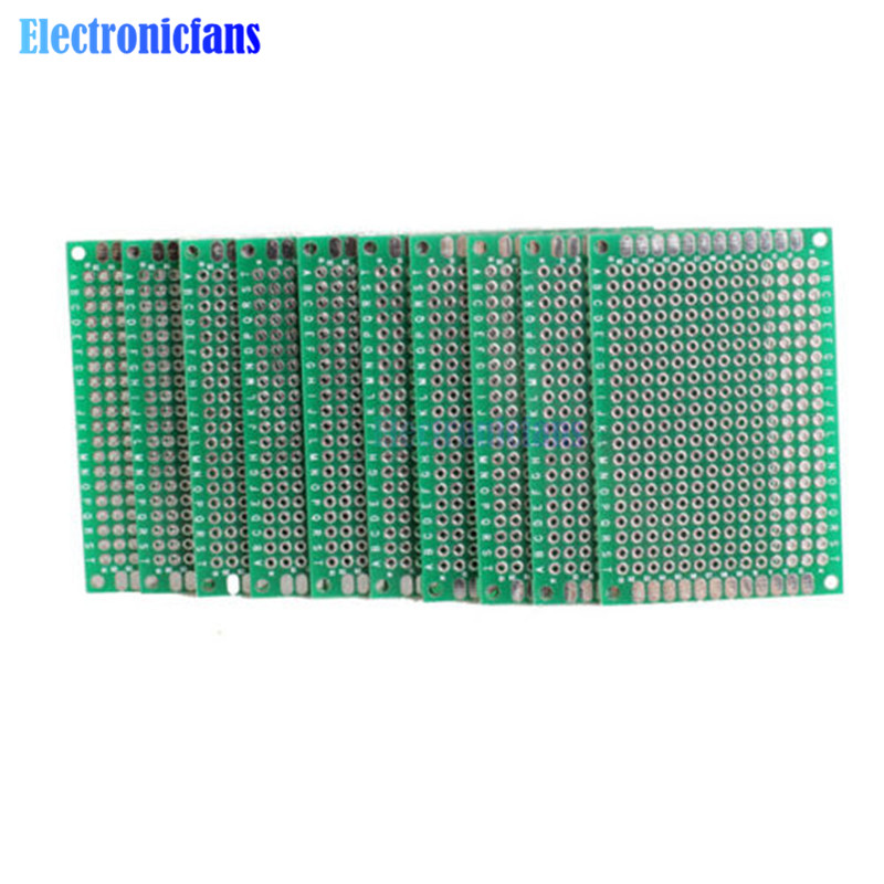 10PCS Double Side Prototype PCB Bread Board Tinned Universal 4x6 Cm 40x60 Mm FR4