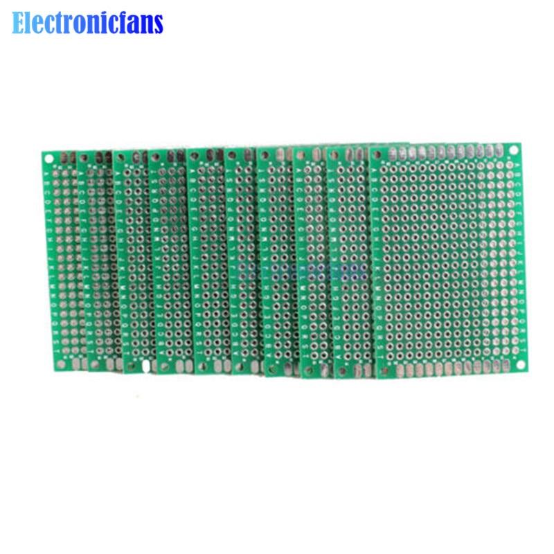 10PCS Double Side Prototype PCB Bread Board Tinned Universal 4x6 Cm 40x60 Mm FR4