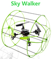 Original Sky Walker HM1306 4CH 6 Axis RC Quadcopter RTF 2.4GHz Flying/Running/Climbing