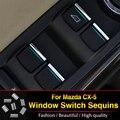 For Mazda CX-5 CX5 2012 2013 2014 ABS trim Window lift buttons sequins/decocation accessories 7pcs/set
