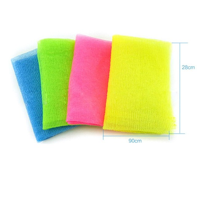 1PC Nylon Mesh Bath Shower Body Washing Clean Exfoliate Puff Scrubbing Towel Cloth Scrubber Soap Bubble For The Bath Like Loofah 4