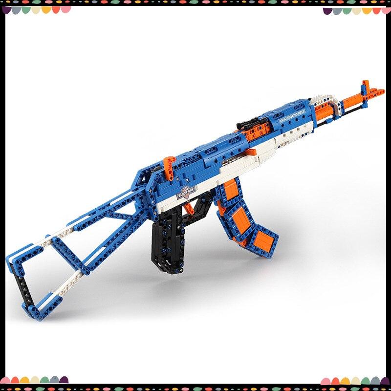 Blocs de construction haute Simulation AK47 Action fusils à pompe série militaire Legoing technologie briques jouets pour enfants enfants cadeaux
