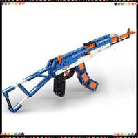 Building Blocks High Simulation AK47 Action Shotguns Guns Military Series Legoing Technology Bricks Toys For Kids Children Gifts