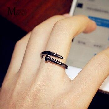 Tendance mode tempérament titane acier anneau japon et corée du sud personnalité Hipster bijoux hommes et femmes Couple anneau ZK50
