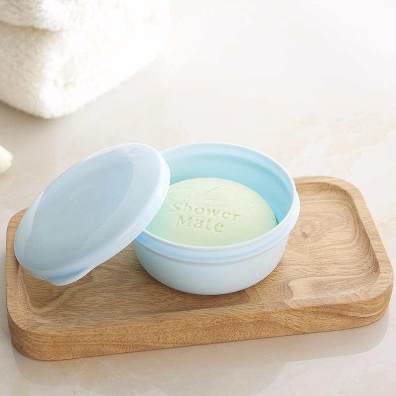 1Pc White Plastic Soap Box di viaggio portatile impermeabile di sapone portasapone Protettori estraibili Soap Scarico per bagno della casa di corsa