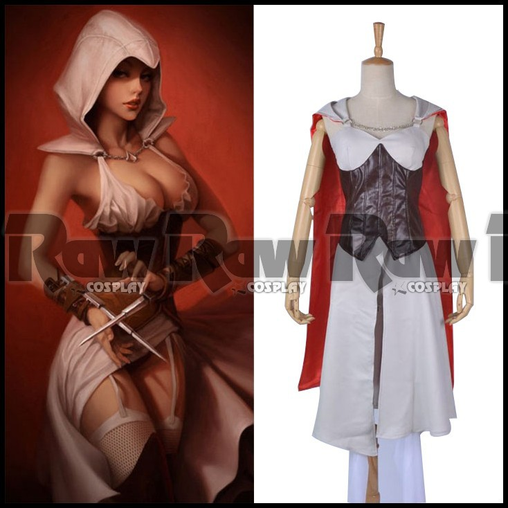 Assassin Creed Female Cosplay Costume Clothes Game Women Victorian