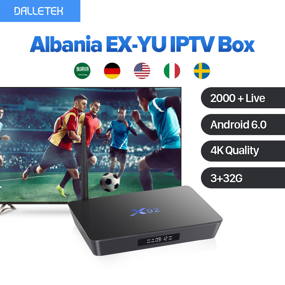 X92 4K 3G 32G Amlogic S912 Octa Core Android IPTV Box Europe French Arabic Germany UK 2000 IPTV Channels IUDTV Subscription frommer s® germany 2000