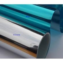 все цены на Multiple sizes available Blue Silver One Way Mirror Window Foil Film Glass Sticker UV Reflective privacy Solar Film 2/3/4/5/6/7m онлайн