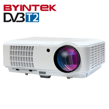 BYINTEK RD804 DVBT2 ATV 1280x800 Digital cL720 WXGA 1080P Video LCD Portable Home Theater HDMI HDTV USB Video LED HD Projector