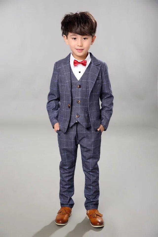 Gray NEW Elegant Wedding Toddler Teen Boy Tuxedo Birthday Sweet 16 5-Piece Suit