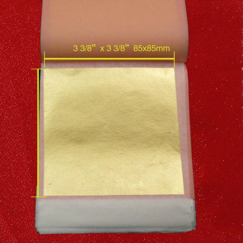 25 Sheets Per Booklet 8.5X8.5cm Transfer Gold Leaf Genuine Gold Foil Sheet  24k Edible Gold Leaf Free Shipping
