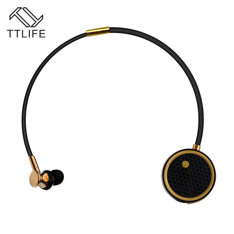 TTLIFE Original fashion Bluetooth 4.0 Earphone Stereo Headset Wireless In-Ear Earphones with Mic for IOS/Android Smartphone em290 copper wire earphone in ear with mic clear 3d sound quality handsfree call for android ios smartphone oppo xiaomi mp3 pc