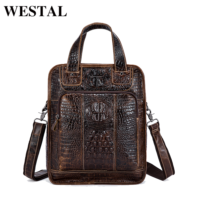 9345b33ab43d WESTAL сумка мужская натуральная кожа Мужская сумка новый дизайнер мужской  плечо сумки через плечо сумка для